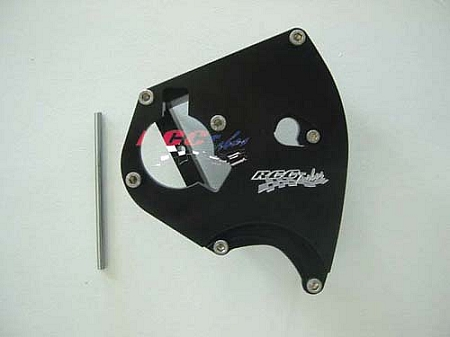 RCC billet sprocket cover and case saver for Suzuki Hayabusa
