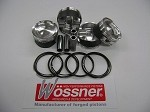 Wossner Piston Kit, Suzuki Hayabusa 99-07, 81mm std bore, 9:1 Turbo